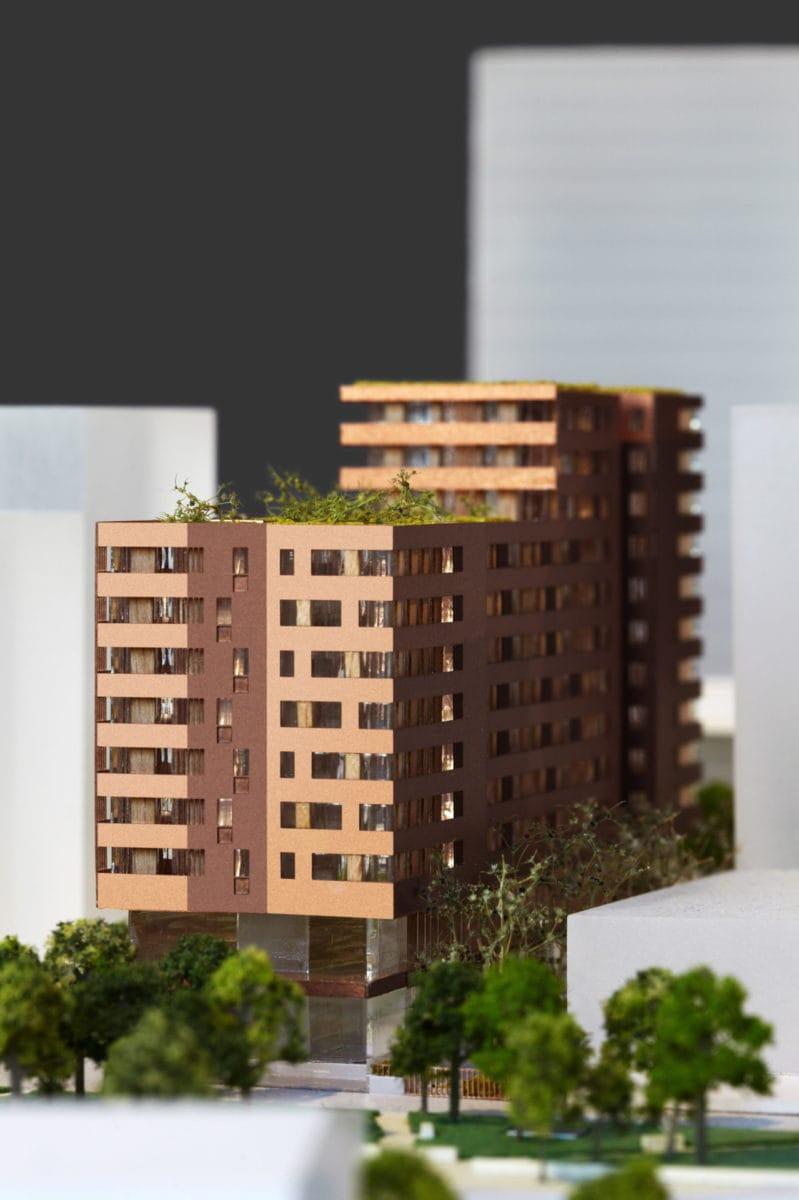 Maquette de concours architecture de l'avenue de France par Jean Harari au 1/500ème