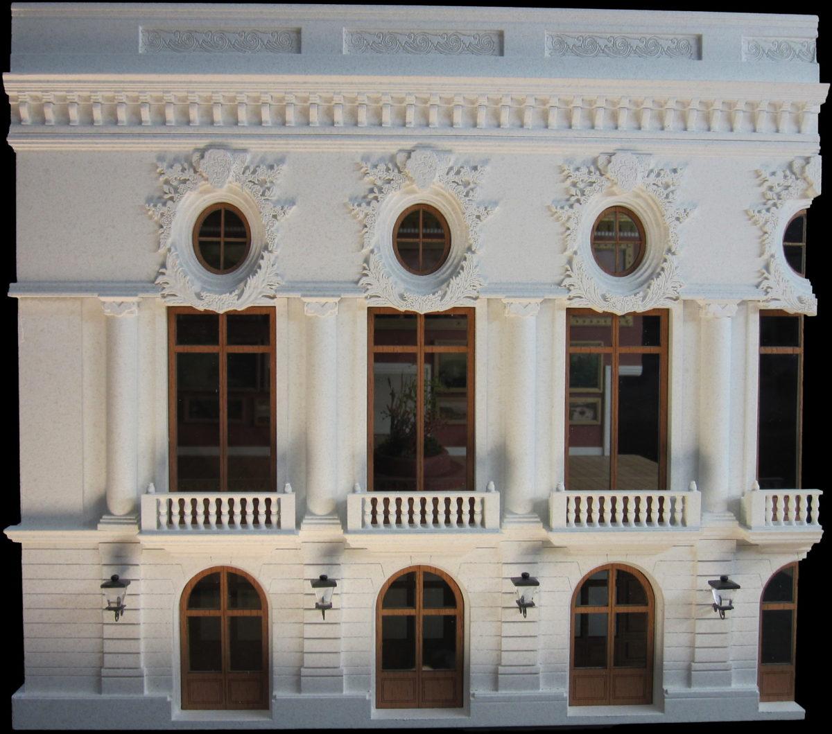 Panorama de la maquette du musée de Gravelotte
