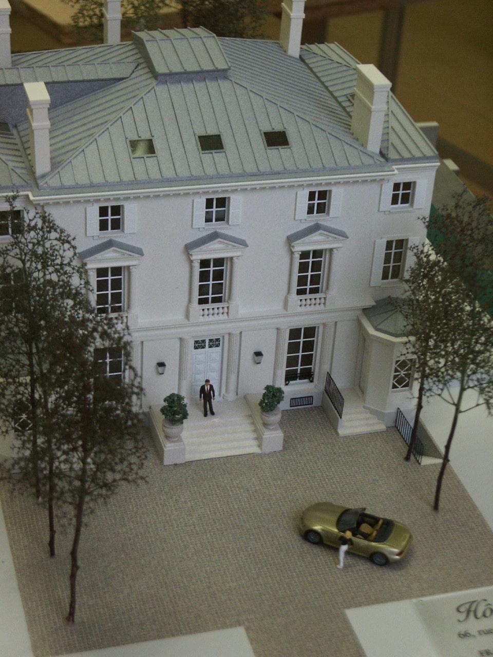 Maquette de promotion hôtel particulier Paris 9ème