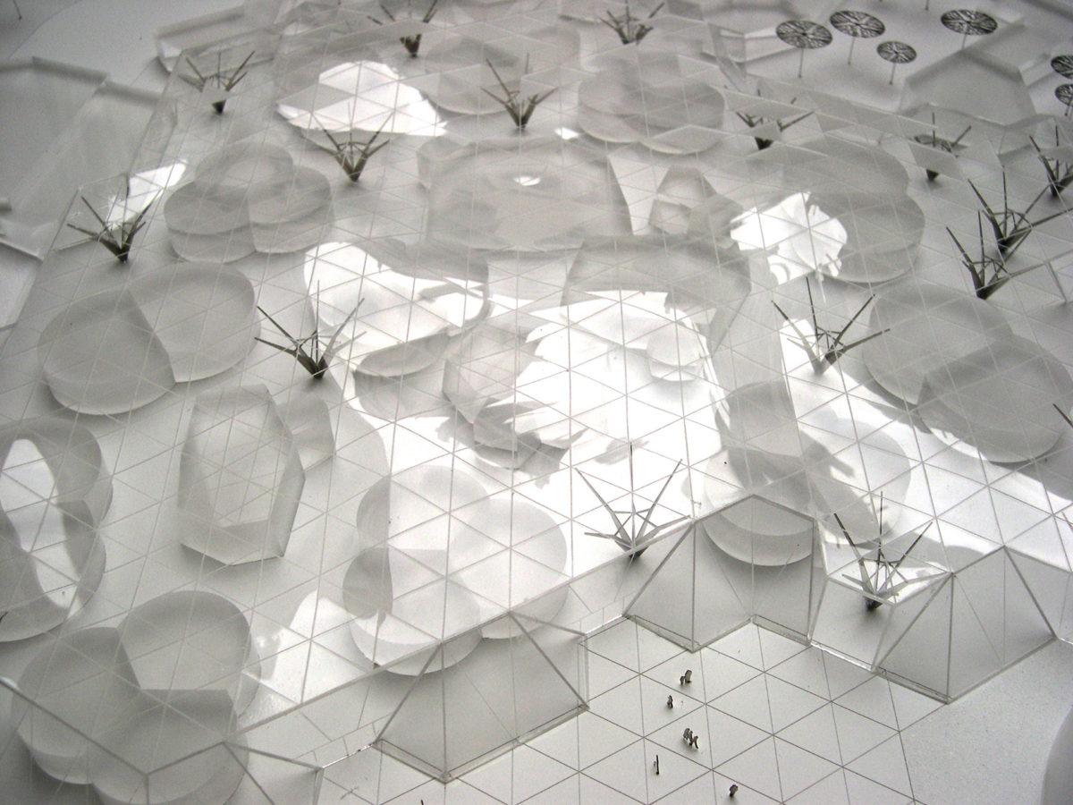 maquette du Lycée du 3ème millénaire par l'architecte Philippe gazeau au 1/500ème