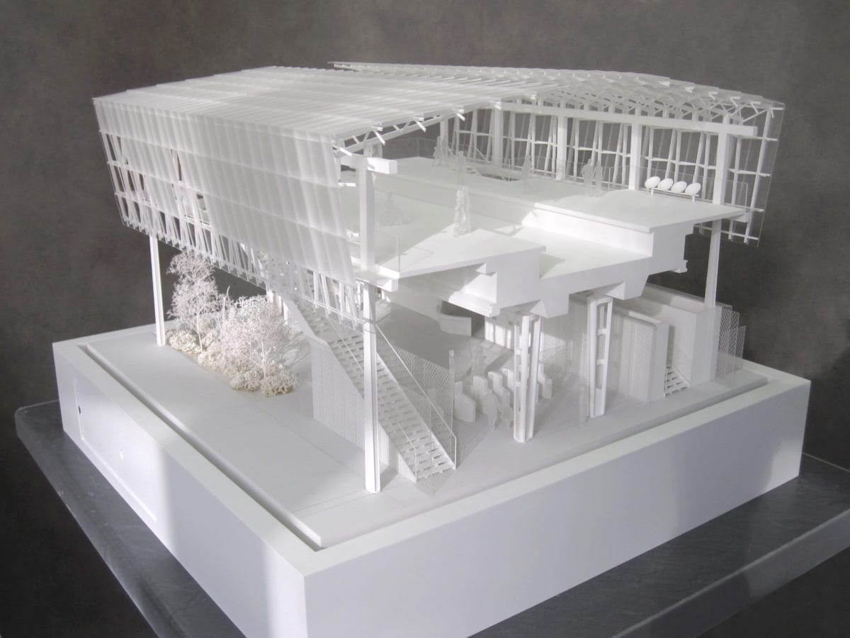 maquette de détails de la station Coteaux Beauclair pour la RATP par l'architecte Marc Mimram au 1/50ème