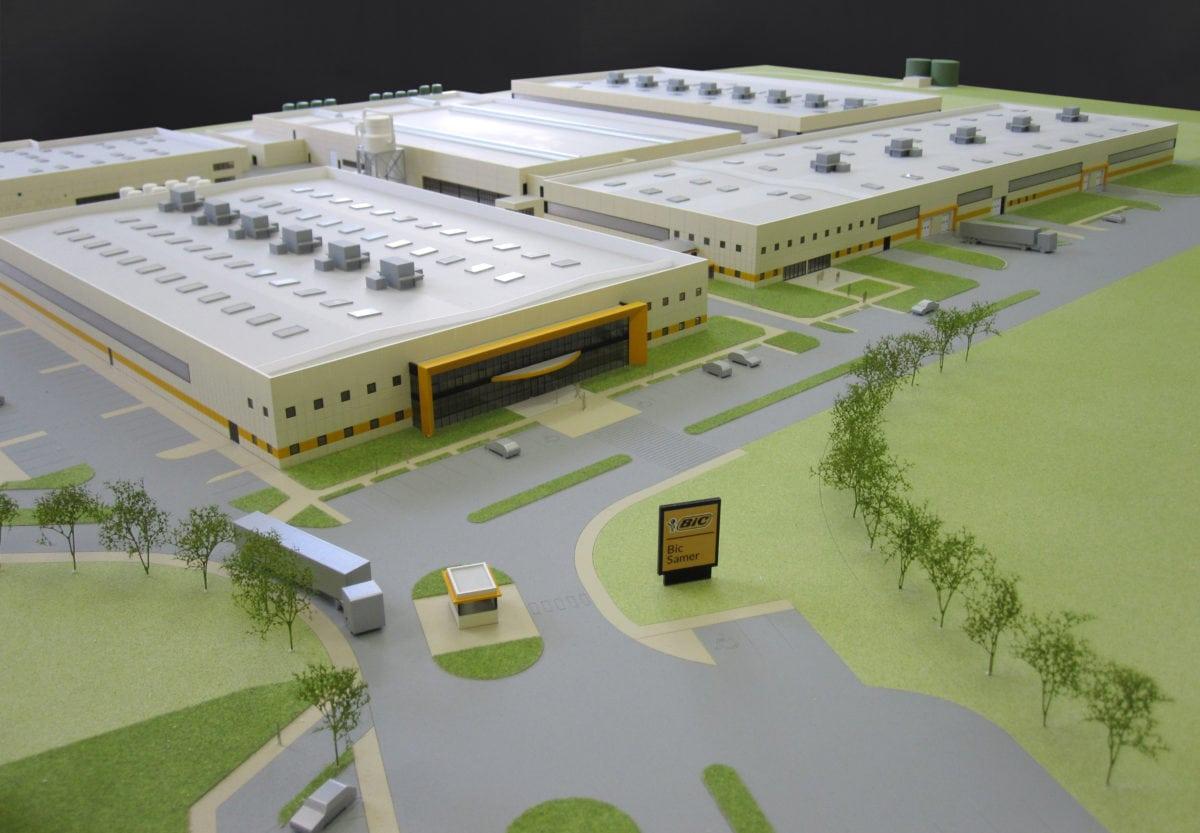 maquette industrie du site industriel de Bic à Samer par Arphodes Architecture