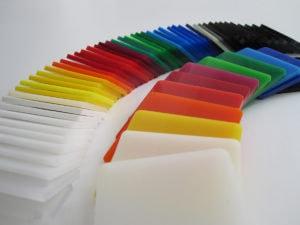 plexiglas coloré