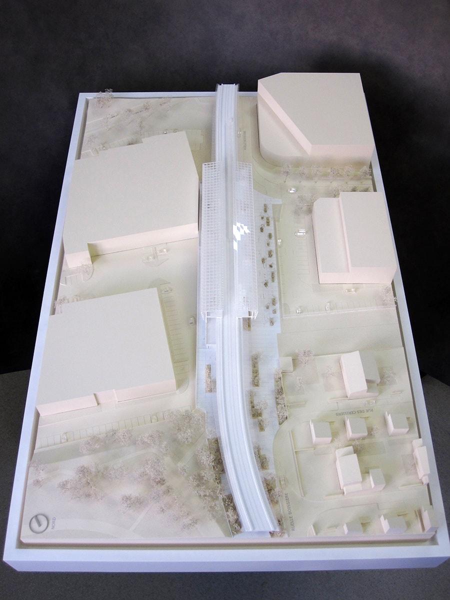 maquette de la station aérienne Coteaux Beauclair, Marc Mimram, RATP