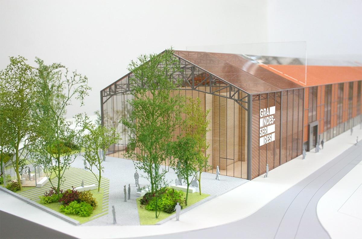 maquette grande halle grandes serres de pantin végétation3