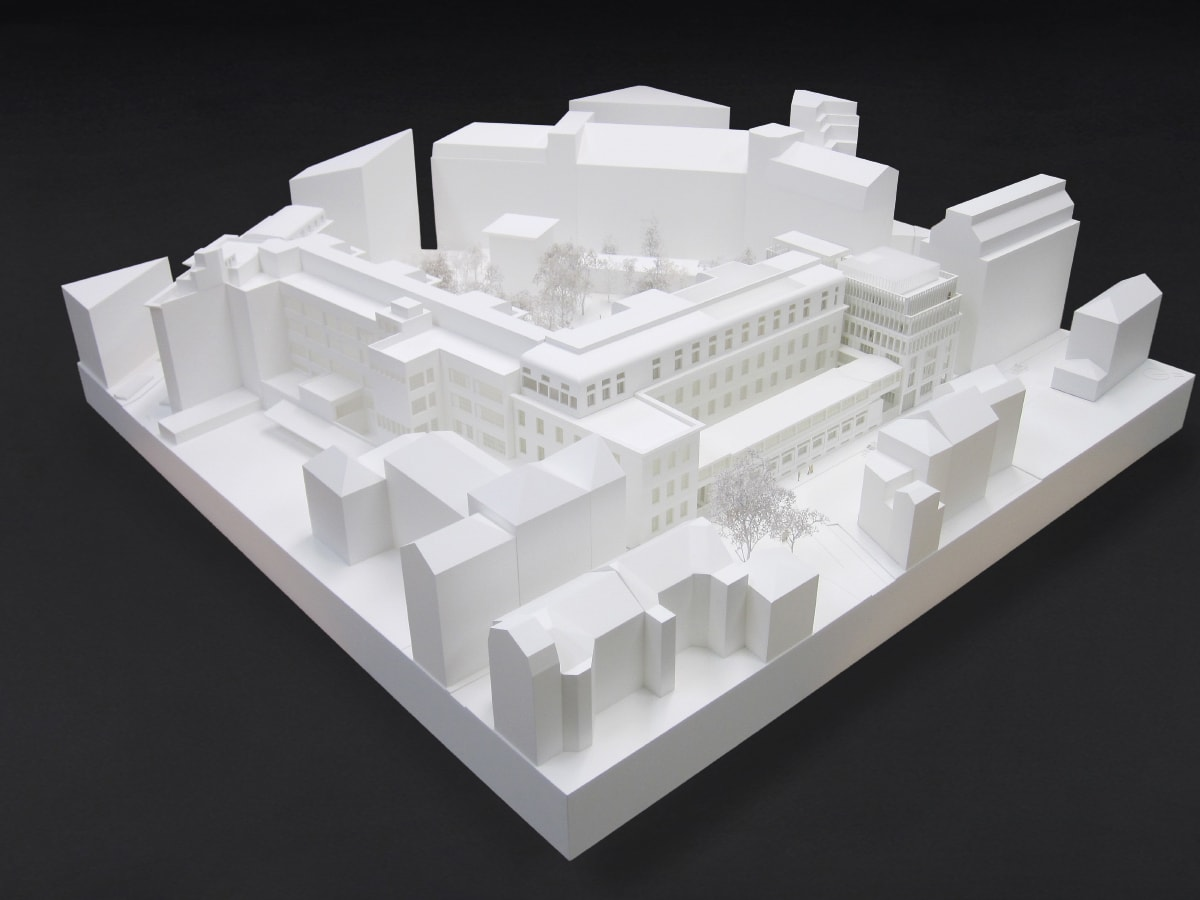 maquette de l'extension de l'école normale supérieure d'architecture