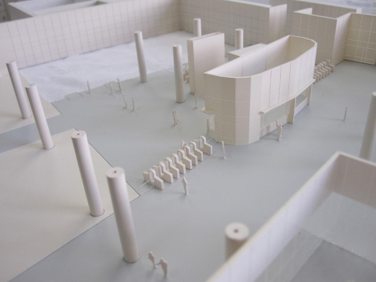 Cosnstruction de la maquette de la gare de l'aéroport d'Orly pour les métros du Grand Paris