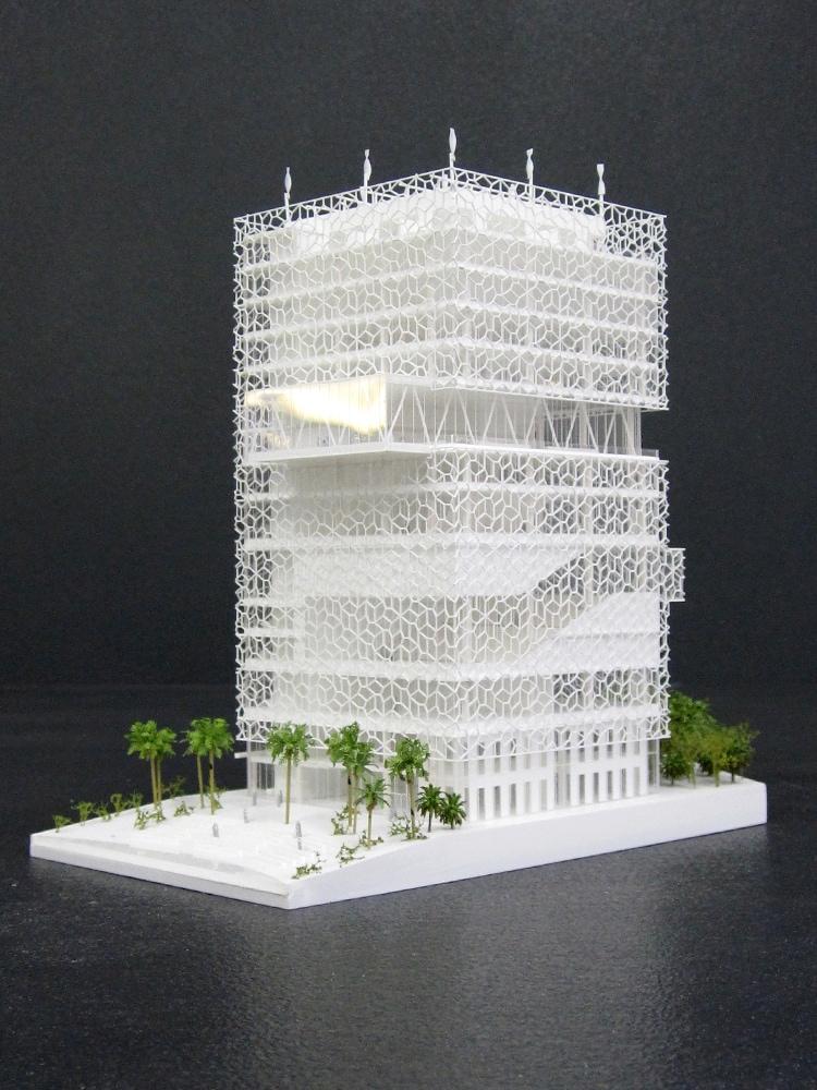Projet de centre de conférence de KFAS au Koweït par Petitdidier Prioux et l'atelier Seraji