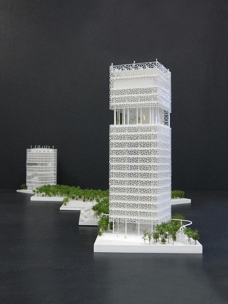 Projet de siège social de KFAS au Koweït par Petitdidier Prioux et l'atelier Seraji